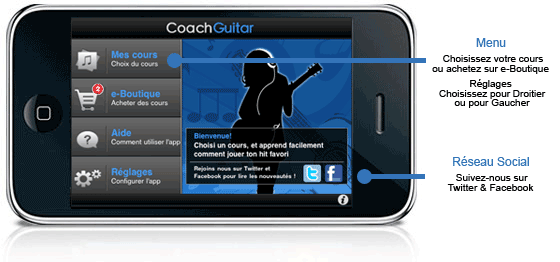 L'application Coach Guitar