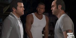 Les trois protagonistes dans GTA V