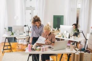 Businesswomen Working