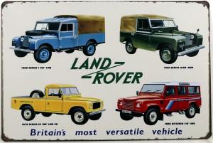 Plaque déco Land Rover