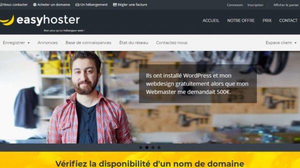 EasyHoster : un hébergeur pro, évolutif et pas cher