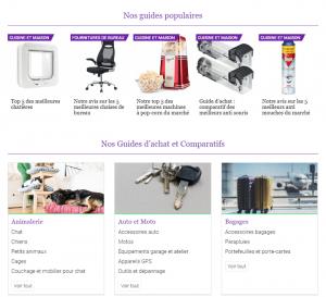 Classements des meilleurs produits sur le site Matos
